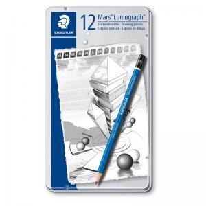 Staedtler Mars Lumograph - Tin of 12 Assorted Degrees