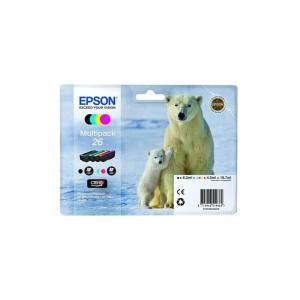 Epson 26 Ink Cart M/pack Pk4 T26164010