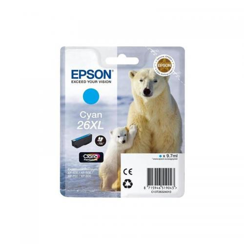 Epson 26XL Ink Cart Cyan T26324010