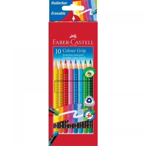Colour Grip Erasable colour pencils (box of 10)