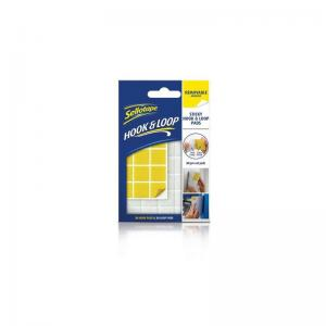 Sellotape Sticky Removable Hook & Loops Pads (24 Pads)