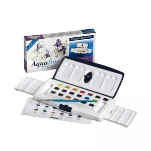 Daler-Rowney Aquafine Watercolour 20 Half Pan Slider Set