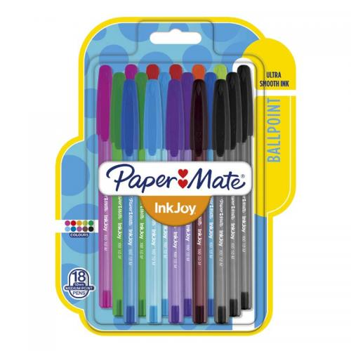 PaperMate Inkjoy 100ST Ball Pens Assorted Colours - Medium