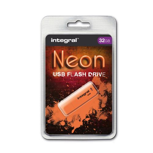 Integral Neon 32GB USB 2.0 Flash Drive