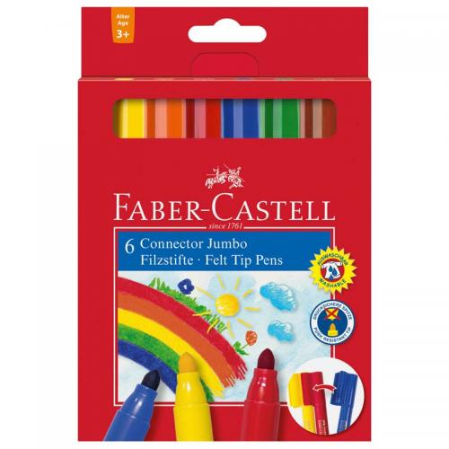 Faber-Castell Jumbo Connector Fibre-tip Pens