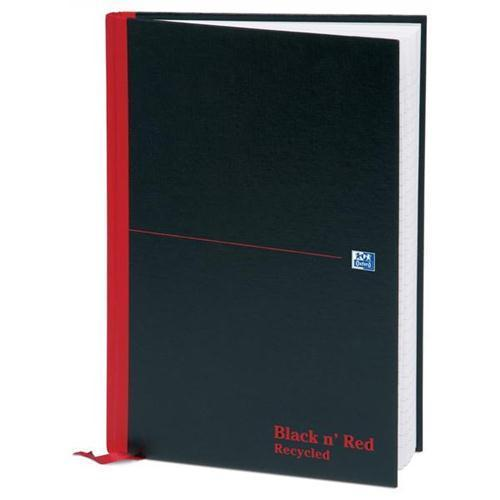 Oxford Black n'Red Recycled Casebound Hardback Notebook