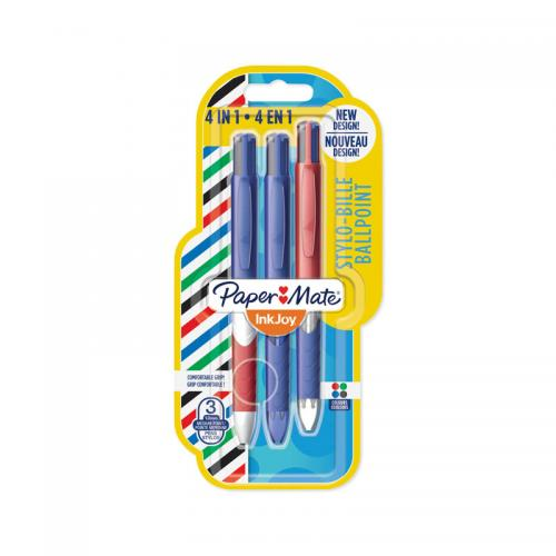 PaperMate Quatro French Connection 4in1 Ball Pen (3 Pack)