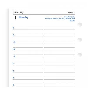 Filofax One Day on a Page Appts. Diary Personal 2020