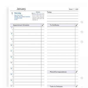 Filofax One Day on a Page Appts. Business Diary A5 2020