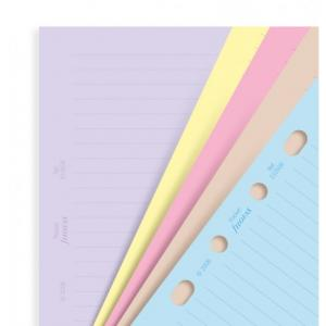 Filofax Classic coloured ruled notepaper