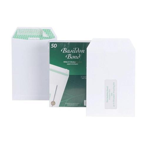 Basildon Bond White C5 Envelopes (Pkd 50)
