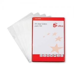 5 Star Office Anti-Static Clear Folder (Pkd 100)