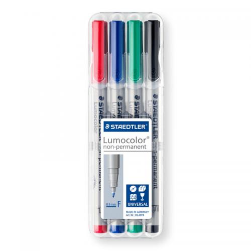 Staedtler Lumocolor Non-Permanent Markers - Fine (Assorted Box)
