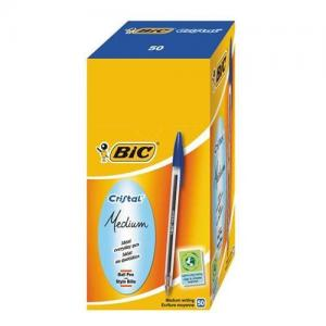 BIC Cristal Original Medium Ball Pen (Pkd 50)