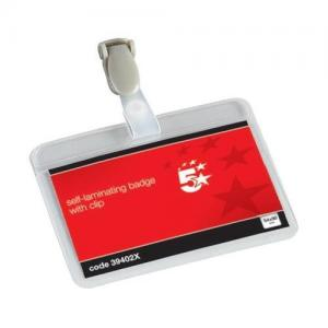 5 Star Office Self-laminating Name Badges (Pkd 25)