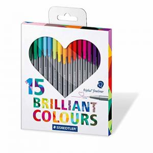 Staedtler Triplus Fineliner Assorted Colours Heart Pack