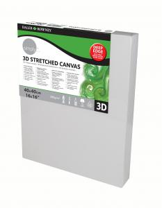 Daler-Rowney Simply 3D Stretched Canvas - Deep Edge