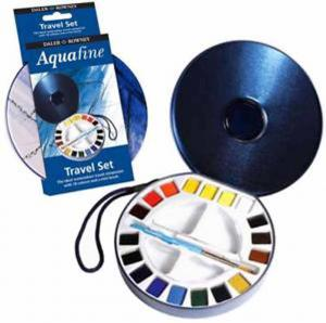 Daler-Rowney Aquafine Watercolour Travel Set (18 Half Pans)