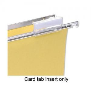 5 Star Office Suspension File White Tab Inserts (Pkd 50)