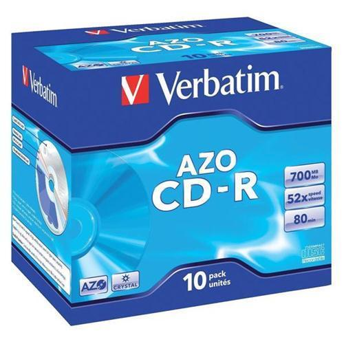 Verbatim CD-R Recordable Disk Write-once Cased 700Mb (Pack 10)