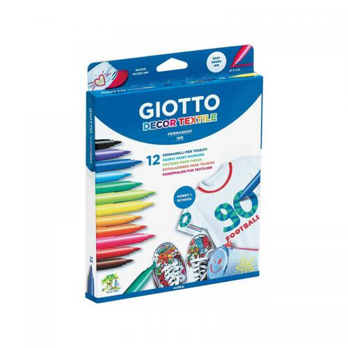 Giotto Décor Textile Permanent Markers (12 Pack)