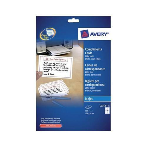 Avery Post Cards White 260gsm C2318-25