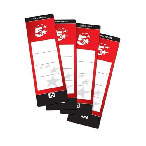 5 Star Office File Labels (10 Labels)