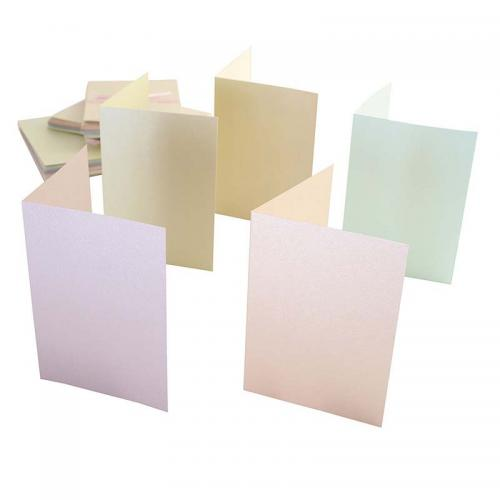 Anita's A6 Cards/Envelopes (50pk) - Pastel Pearlescent