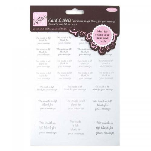 Anita's Card Labels (2pcs) - Left Blank