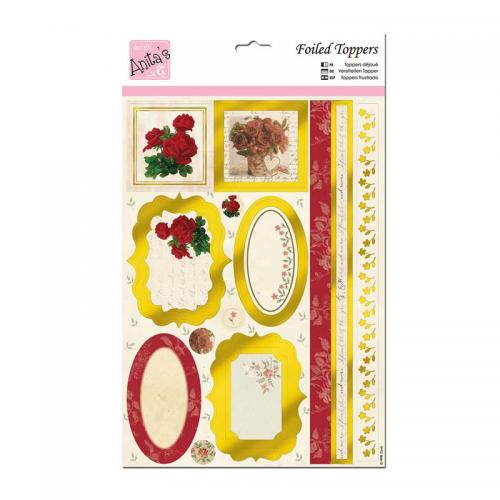 Anita's A4 Die-cut Toppers - Antique Rose