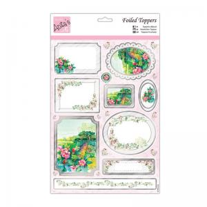 Anita's Foiled Toppers & Paper Pack - Floral Scene