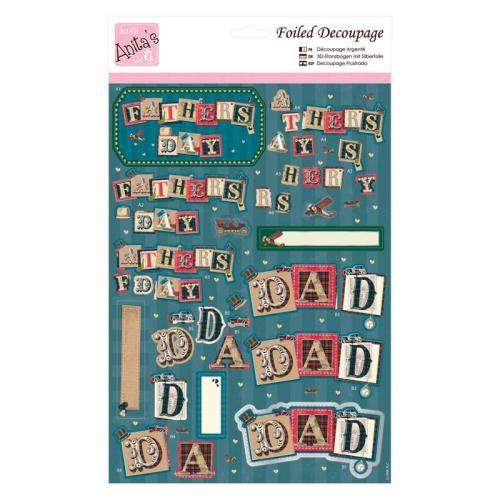 Anita's Foiled Decoupage - For Dad