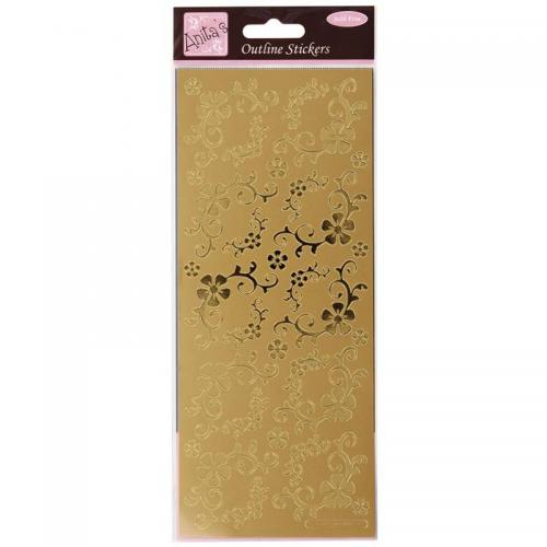Anita's Outline Stickers - Fanciful Floral Corners