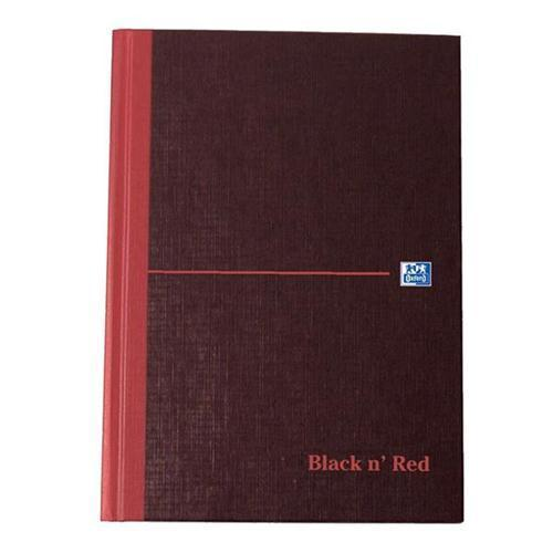 Oxford Black n'Red Matt Casebound Hardback A5 Notebook