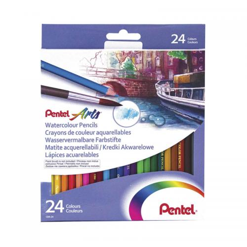 Pentel Arts Watercolour Pencils (24 Pieces)
