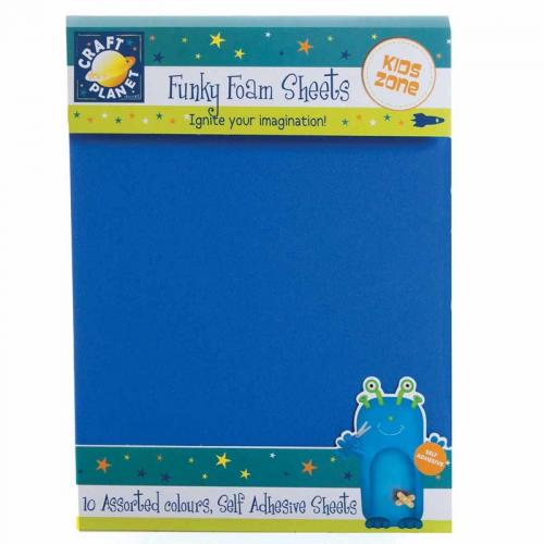 "Craft Planet 9 x 12"" Funky Foam Sheets (Self Adhesive)"