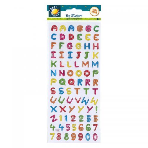Craft Planet Fun Stickers - Alphabet