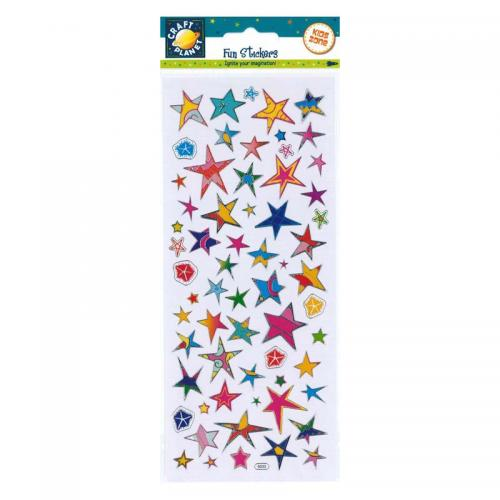 Craft Planet Fun Stickers - Funky Stars