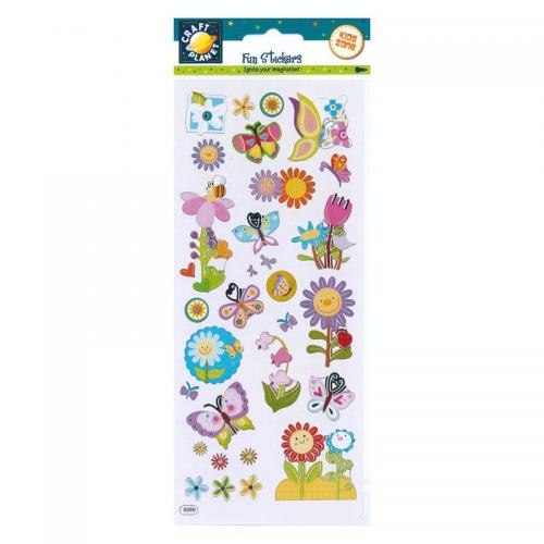 Craft Planet Fun Stickers - Flower Power