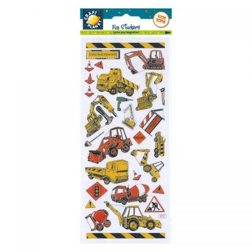 Craft Planet Fun Stickers - Construction Site Vehicles