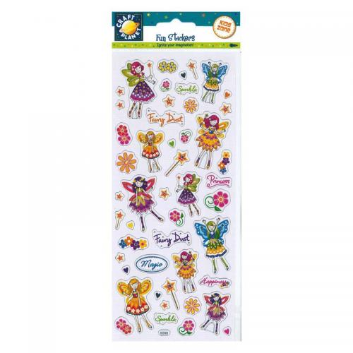 Craft Planet Fun Stickers - Floral Fairies