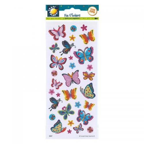 Craft Planet Fun Stickers - Blooms & Butterflies