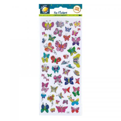 Craft Planet Fun Stickers - Butterfly