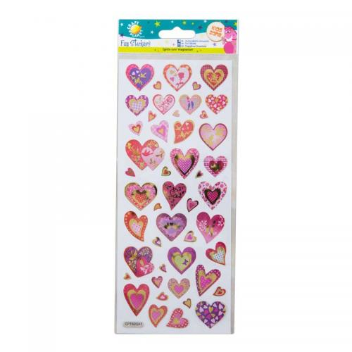 Craft Planet Fun Stickers - Glitter Hearts