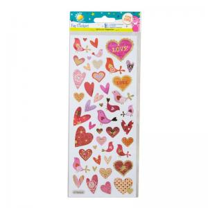 Craft Planet Fun Stickers - Hearts & Birds
