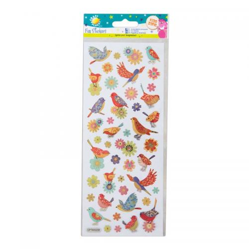 Craft Planet Fun Stickers - Birds & Flowers