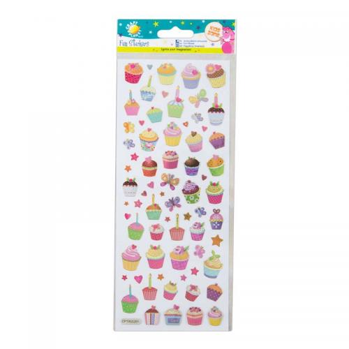 Craft Planet Fun Stickers - Cupcakes