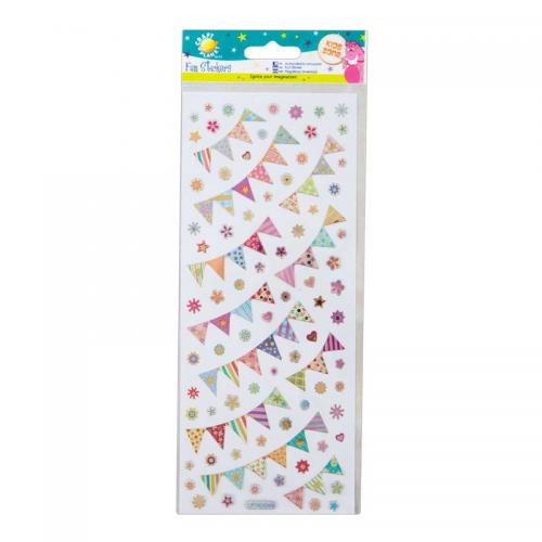 Craft Planet Fun Stickers - Bunting