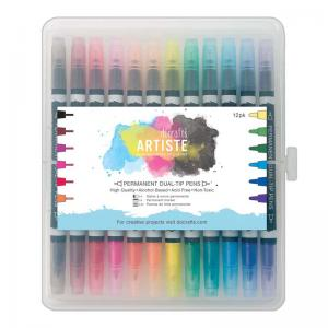 Artiste Permanent Dual Tip Pens (12pk) Thick & Thin