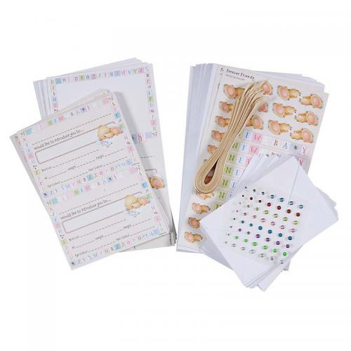 Forever Friends New Baby Card Kit - New Arrival